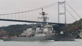 Военные корабли США отправились в Черное море на фоне противостояния с Россией из-за военного конфликта на востоке Украины, сообщают турецкие дипломаты
